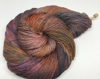 one of a kind - Hand Dyed Sock Yarn - Fancy Sock  - 75/25 Superwash Merino/Nylon  {one of a kind} speckled indie dyed