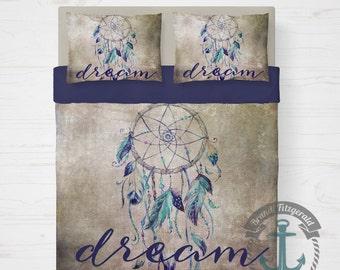 Dream Catcher Duvet Set | Dream Spiritual Native Inspired Bedding | Duvet Cover + 2 Standard Pillow Cases | Made in the USA