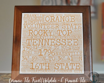 """Trivet Hot Plate:  Everything Tennessee  
