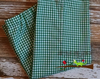 Boys Gingham Pants Size 12M-18M, 2T-5T, 6