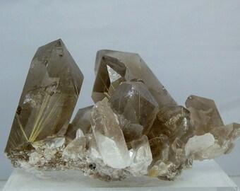 Quartz Crystal Cluster Lightly Rutilated Display Specimen Amazing Quality Display Specimen Minas Gerais, Brazil 592 grams in Weight