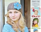 50% OFF SALE Crochet Pattern - Crochet Earwarmers Pattern 026, Headband Pattern