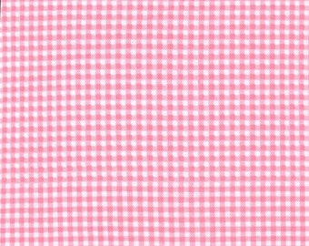 Michael Miller fabric for quilt or craft Tiny Gingham in Pink Half Yard