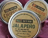 HOT ---> Spicy BBQ Gift Set - Jalapeno, Chipotle, and Habanero Barbecue Spice Rubs