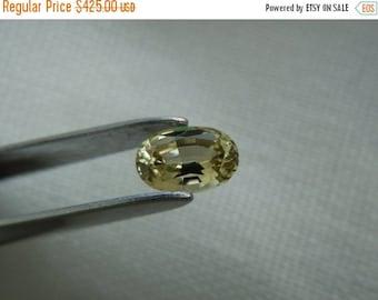 SEPTEMBER SALLE Golden Yellow Oval Cut Fancy Montana Sapphire .60 carat