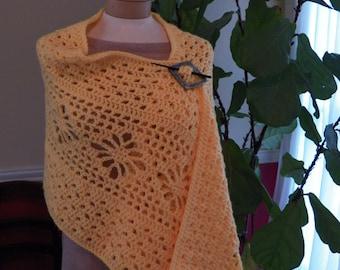 Golden Crochet Shawl