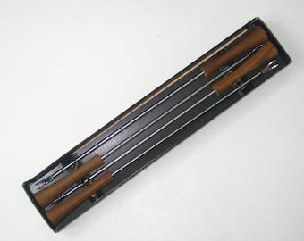 """Set 4 Laurids Lonborg Denmark Teak 11"""" Long Fondue Forks- Vintage Danish Modern in Original Box"""