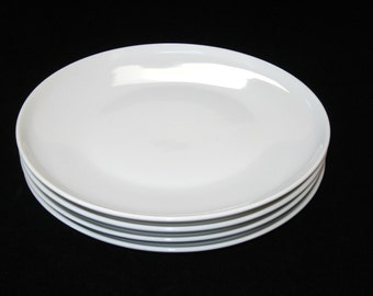Paul McCobb Contempri White Salad Plates Set of 4 for Royal Jackson Internationale