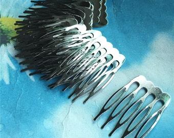 20pc 38x26 Silver teeth(5 teeth) hair comb charms findings