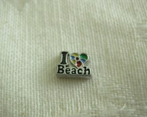 Charms for Memory locket  Jewelry Floating Charms Jewelry I LOVE the BEACH