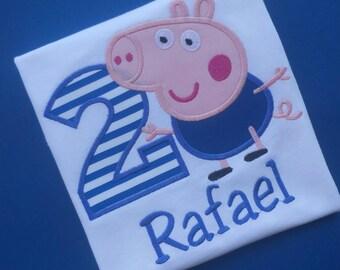 George Pig Birthday Shirt