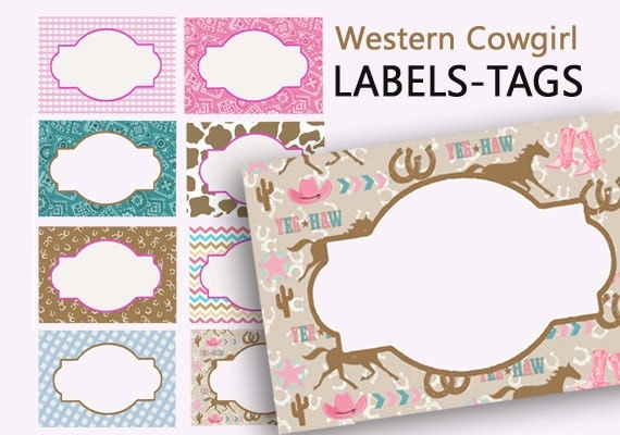 labels printable name tags western party