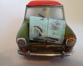Rusted, Scale Model, Mini Cooper Car, Classicwrecks,Downton Abbey