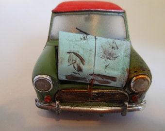 Rusted Scale Model Mini Cooper Car Classicwrecks