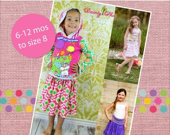 Wendy's Knit Yoga Skirt PDF Pattern Sizes 6/12m to 8 girls