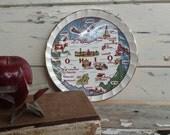 Antique Ohio Souvenir Plate - Vintage Wall Hanging Souvenir + Home Decor, Go Buckeyes, The Buckeye State, Mid Century Ohio Gift, Wall Art