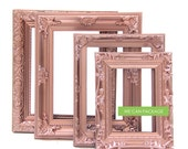 ROSE GOLD Picture Frames - Set of 4 - Wedding Frames & Shabby Chic Frames