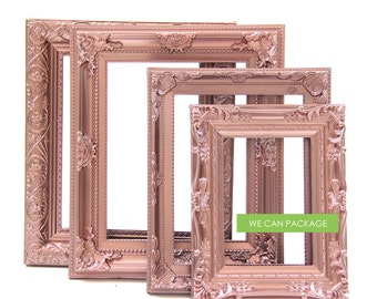 rose gold picture frames set of 4 wedding frames shabby chic frames