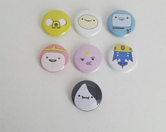 Adventure Time inspired 2.25 inch pinback button set
