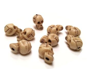 Skull - molded resin bead