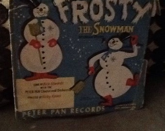 vintage 1950 Peter Pan Records, Frosty the snowman rare red record