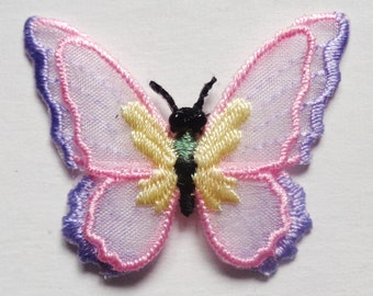 Iron On Patch Applique - Sheer Double Layer Butterfly