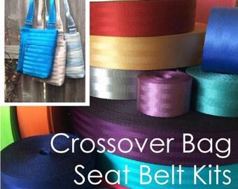 2 color -Crossover Bag Seat Belt Webbing Kit