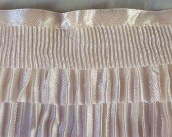 Cream satin trim 90cm x 8cm