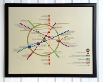 Moscow Metro Map - 1980