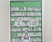 Funny Cards • Books • Library • Reading • The perfect card for the friend who loves to read