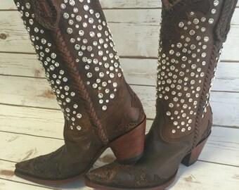 Old gringo rhinestone cowboy boots
