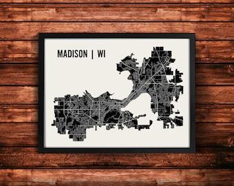 Madison Map Art Print | Madison Print | Madison Art Print | Madison Poster | Madison Gift | Wall Art