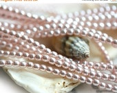 30%OFF SALE Czech pearl beads, Full Strand - Soft Pink - faux pearls, tiny spacers, round, druk - 2mm - 150Pc - 1525