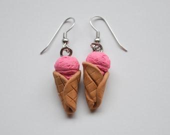Strawberry Icecream Earrings
