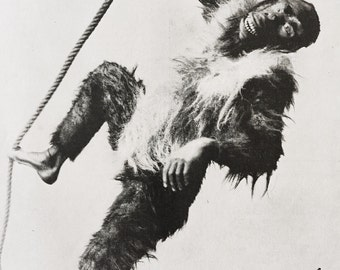 Mr Charles Lauri As The Monkey - The Sketch 1894
