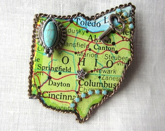 Ohio State Puzzle Piece Brooch 2016OH