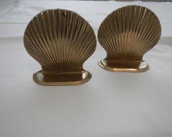 Vintage Brass Seashell Set (2)