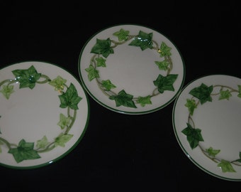 """3 American Ivy Franciscan Dessert / Bread and Butter Plates 6-3/8"""""""