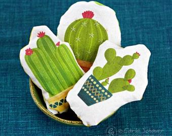 Hand Warmers, Pocket Handwarmer, Cactus Design Heat Pack, Reusable Warmers, Microwave Rice Pack, Stocking Stuffer, Teacher Gift, under 10
