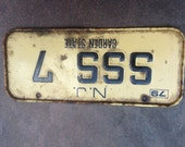 License plate SSS 7 NJ 79