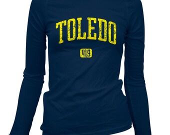 Women's Toledo 419 Long Sleeve Tee - S M L XL 2x - Ladies' Toledo T-shirt, Ohio - 3 Colors