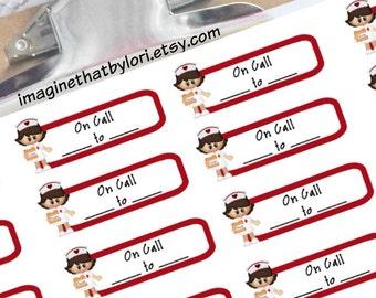 Nurse on call planner stickers