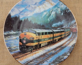 The Empire Builder Collectors Plate  ~  1991 The Hamilton Collection  ~  The Empire Builder from The Golden Age of American Railroads