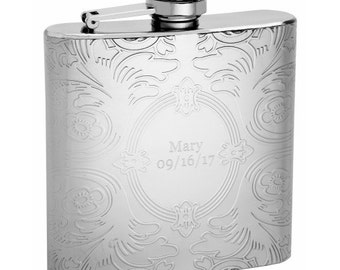Hip Flask with Embossed Design