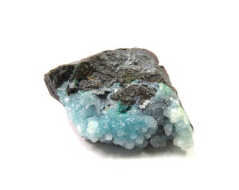 Chrysocolla Druzy Specimen 1 Raw Crystal 26mm x 18mm x 14mm Natural Rough Stone (Lot 9975) Mineral Specimen