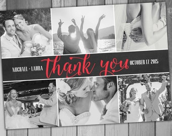 Wedding Thank You Photo Card wedding Photo Printable Wedding Printable Photo Thank you Card Chalkboard wedding Chalkboard Thank You Card