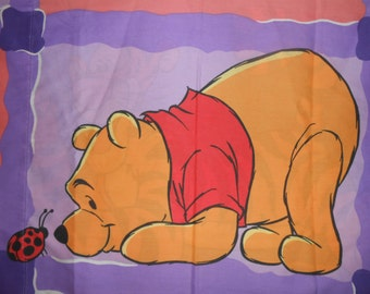 Disney WINNIE THE POOH & Tigger PillowCase Standard Fabric Material