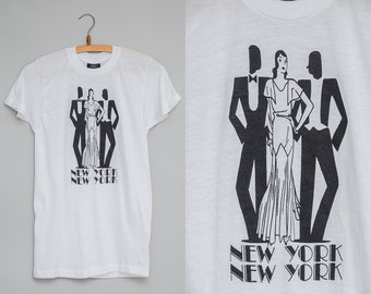 80s New York Art Deco Great Gatsby Souvenir T Shirt