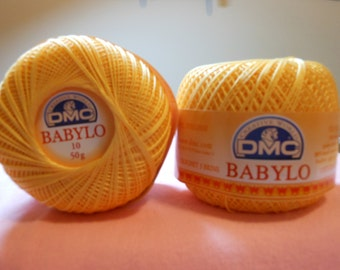 DMC BABYLO crochet thread size 10....yellow