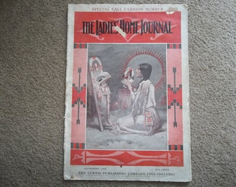 Antique Ladies Home Journal Magazine...1903...Special Fall fashion...Historic...Indian Papoose